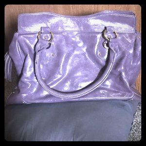 Large, lilac Aldo bag with metal details